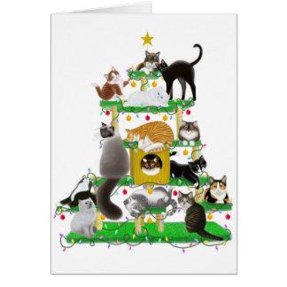 Holiday Cat Tree Card