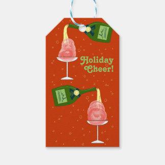 Holiday Celebration Illustration: Holiday Cheer Gift Tags