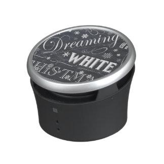 holiday  chalkboard  white Christmas Bluetooth Speaker