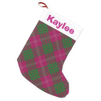 Holiday Charm Clan Crawford Tartan Small Christmas Stocking