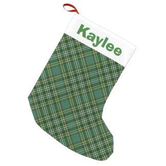 Holiday Charm Clan Currie Tartan Small Christmas Stocking
