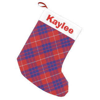 Holiday Charm Clan Hamilton Tartan Small Christmas Stocking