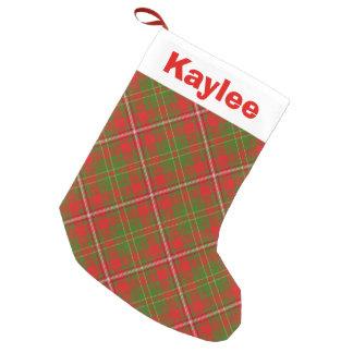 Holiday Charm Clan Hay Tartan Small Christmas Stocking