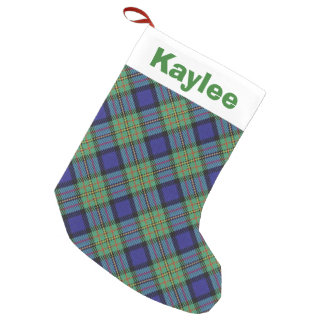 Holiday Charm Clan MacLaren Tartan Small Christmas Stocking