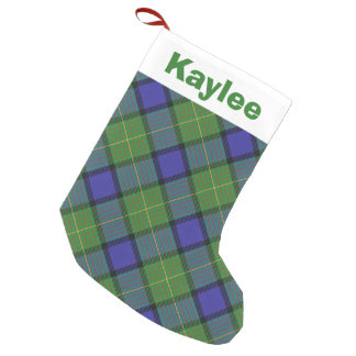 Holiday Charm Clan Muir Tartan Small Christmas Stocking