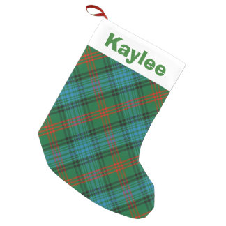 Holiday Charm Clan Ross Tartan Small Christmas Stocking