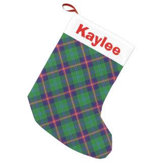 Holiday Charm Clan Young Tartan Small Christmas Stocking