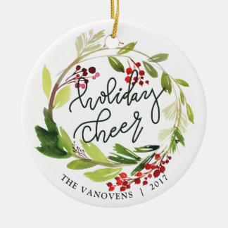 HOLIDAY CHEER CHRISTMAS ORNAMENT