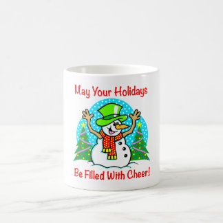Holiday Cheer Christmas Snowman Drink Ware Basic White Mug