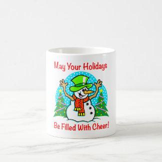 Holiday Cheer Christmas Snowman Drink Ware Mug