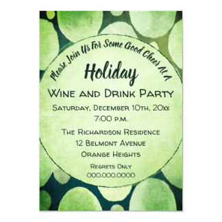 Holiday Cheer Wine and Drink Party Card