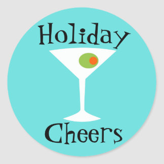 Holiday Cheers Martini Stickers