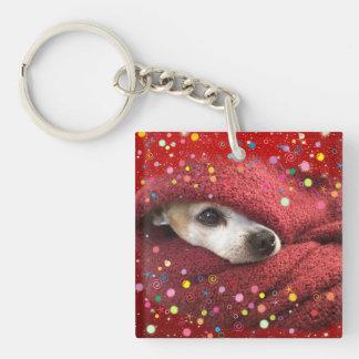 Holiday Chihuahua Key Ring