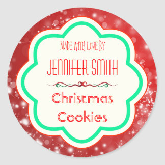 Holiday Christmas Bakery Baked Cookie Classic Round Sticker