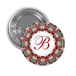 Holiday + Christmas Celebration Monogram Button