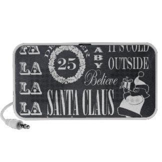 holiday Christmas chalkboard art iPhone Speaker