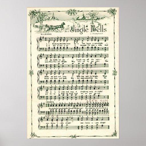 Holiday Christmas Jingle bells Poster