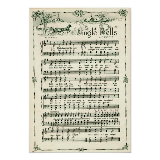 Holiday Christmas Jingle bells Poster