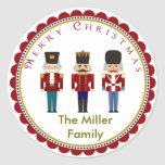 Holiday Christmas Nutcracker Trio Stickers Labels