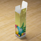 Holiday Christmas Ornament, Stylish, Wine Gift Box