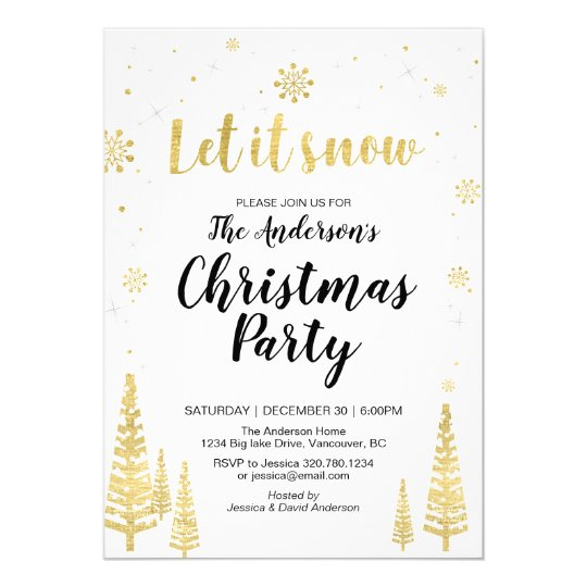 Holiday / Christmas Party Invitation Card