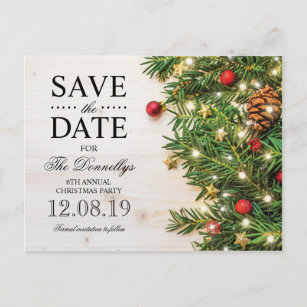 christmas tree save the date cards zazzle uk