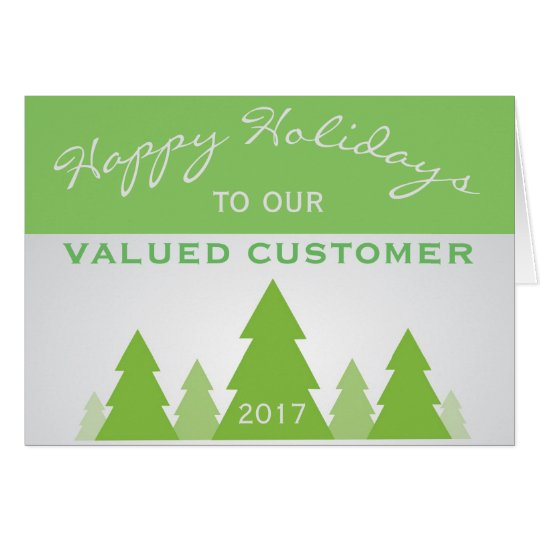 Holiday Christmas Pine Business Customer Greeting Card