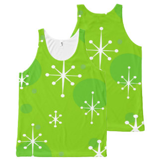 HOLIDAY CHRISTMAS POLKA DOT AND SNOWFLAKE TANK TOP
