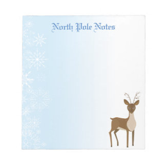 Holiday Christmas Reindeer Notepads