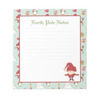 Holiday Christmas Santa Claus Lined Notepads