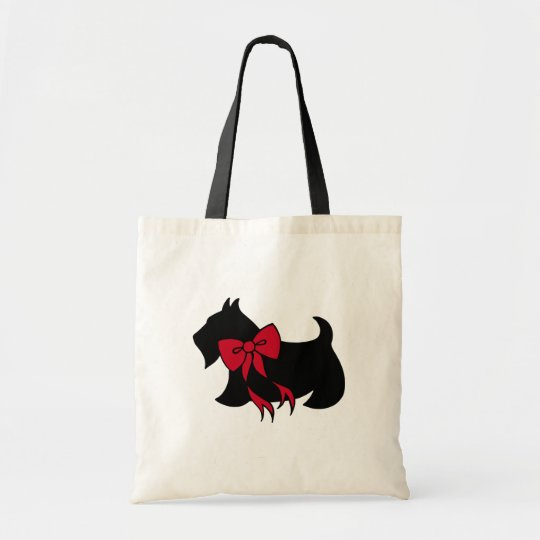 Holiday Christmas Scottish Terrier Tote Bag Gift