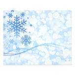 Holiday Christmas Snowflake Design Blue White Personalized Flyer