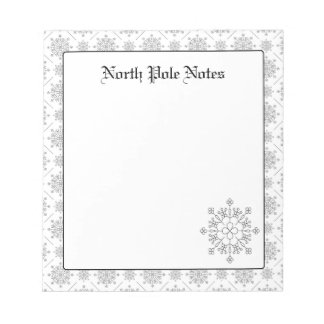 Holiday Christmas Snowflakes Notepads