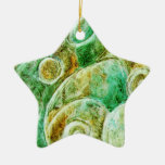 Holiday Christmas Star Ornaments_Duo Tone Ceramic