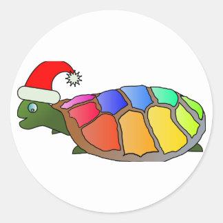 Holiday Christmas Tree Party Destiny Celebration Round Sticker