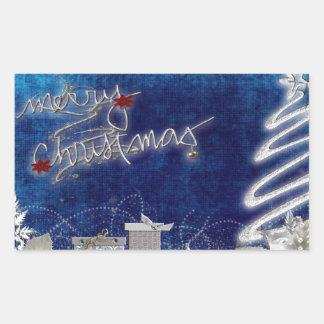 Holiday Christmas Tree Party Destiny Celebration Rectangular Stickers