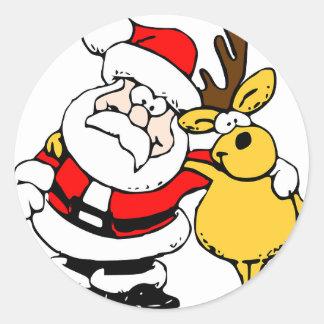Holiday Christmas Tree Party Destiny Celebration Classic Round Sticker