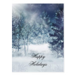Holiday Christmas Winter Scene Postcard