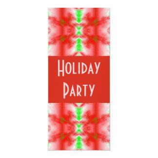 Holiday colors 10 cm x 24 cm invitation card
