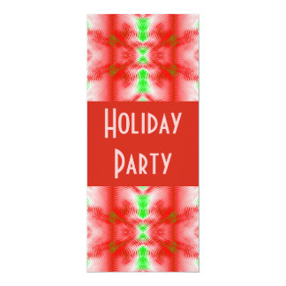 Holiday colours 10 cm x 24 cm invitation card