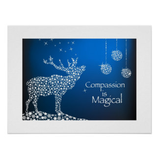 Holiday Compassion is Magical Print