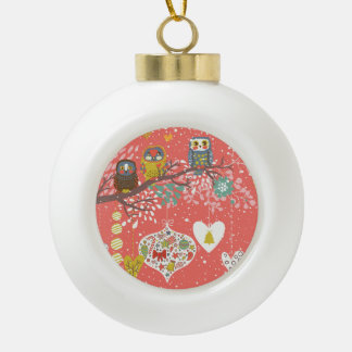 Holiday Concept Illustration Ceramic Ball Christmas Ornament