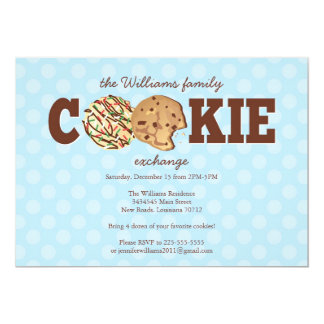 Holiday Cookie Exchange Card