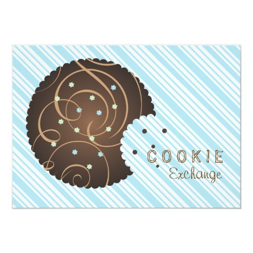 "Holiday Cookie Exchange Invitation 5"" X 7"" Invitation Card"