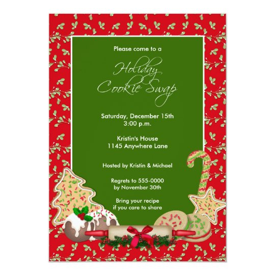 Holiday Cookie Swap Party Invitation