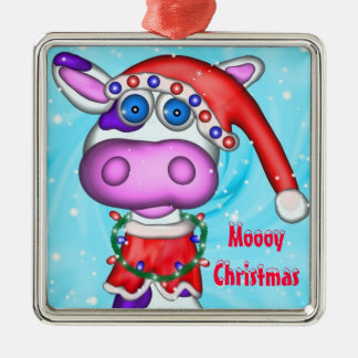 Holiday Cow, Moooy Christmas Ornament