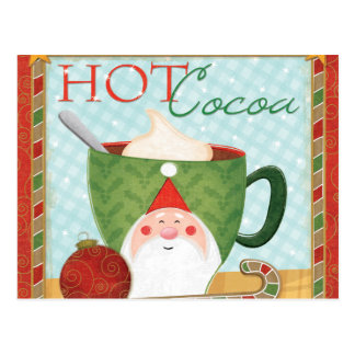 Holiday Cup with Mint Cocoa Postcard