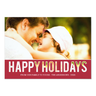 HOLIDAY CUT OUT | HOLIDAY PHOTO CARD 13 CM X 18 CM INVITATION CARD