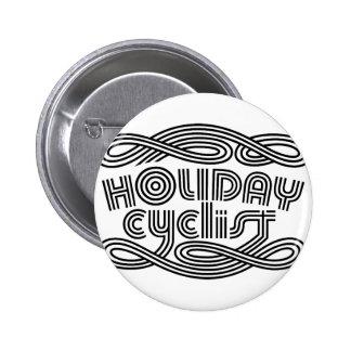 HOLIDAY CYCLIST 6 CM ROUND BADGE