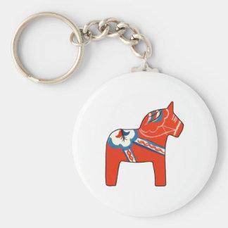Holiday Dala Horse Key Ring
